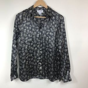 Milano Tops - MILANO | VINTAGE | Daisy Print LS Button Up Blouse